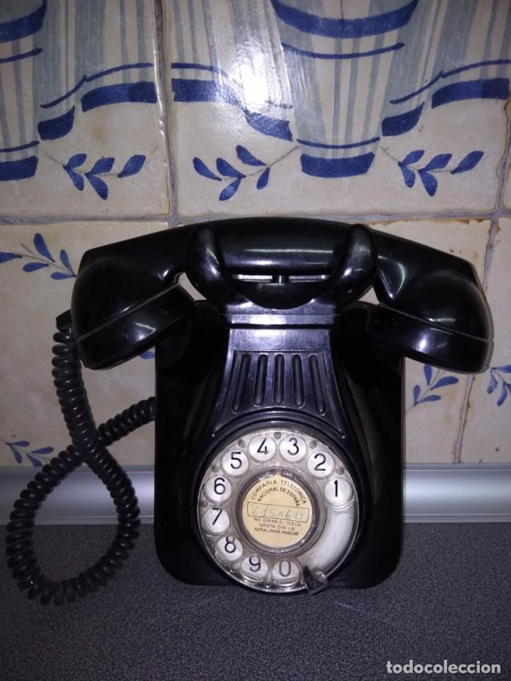 TELÉFONO DE TELEFÓNICA NEGRO (Antigüedades - Técnicas - Teléfonos Antiguos)