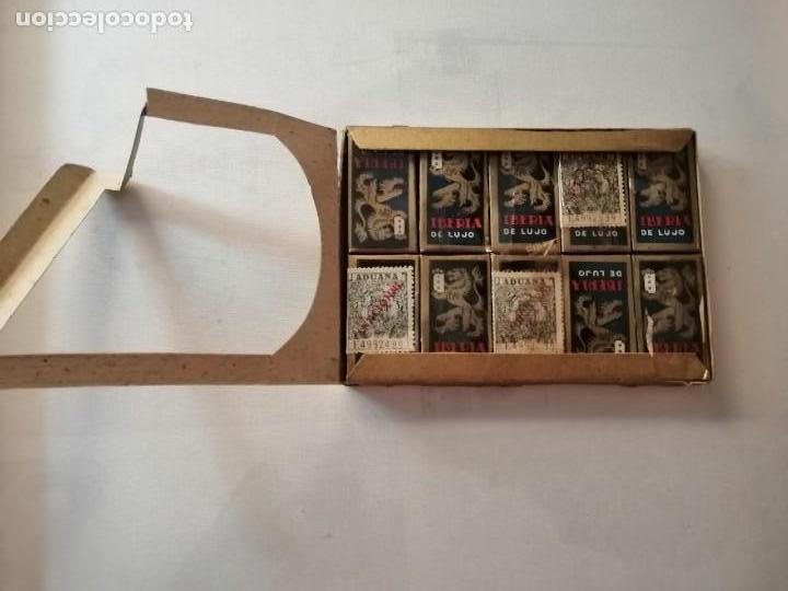 Antigüedades: CAJA CON 10 PAQUETES DE 10 HOJAS CADA UNO DE CUCHILLAS DE AFEITAR IBERIA DE LUJO SIN ABRIR. - Foto 2 - 169454124