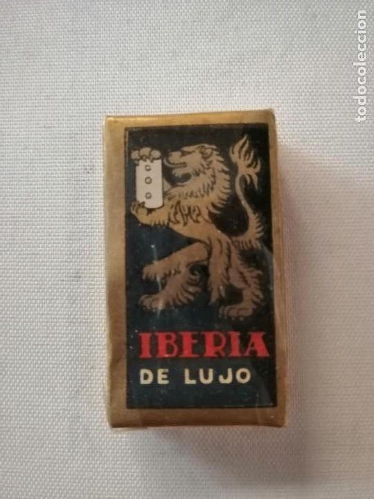 Antigüedades: CAJA CON 10 PAQUETES DE 10 HOJAS CADA UNO DE CUCHILLAS DE AFEITAR IBERIA DE LUJO SIN ABRIR. - Foto 4 - 169454124