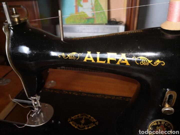 Antigüedades: MAQUINA DE COSER ALFA ANTIGUA - Foto 3 - 169566170