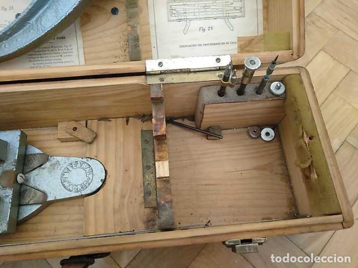 Antigüedades: ANTIGUO PANTOGRAFO M. BERNAL PRECISION MADRID - PANTOGRAPH PANTOGRAPHE KEISANJYAKU - Foto 31 - 169589348