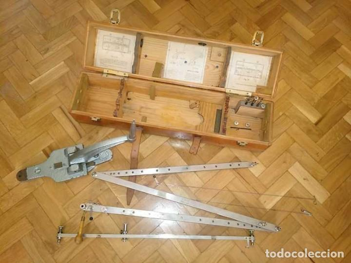 Antigüedades: ANTIGUO PANTOGRAFO M. BERNAL PRECISION MADRID - PANTOGRAPH PANTOGRAPHE KEISANJYAKU - Foto 74 - 169589348