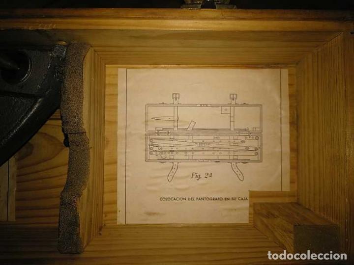 Antigüedades: ANTIGUO PANTOGRAFO M. BERNAL PRECISION MADRID - PANTOGRAPH PANTOGRAPHE KEISANJYAKU - Foto 183 - 169589348