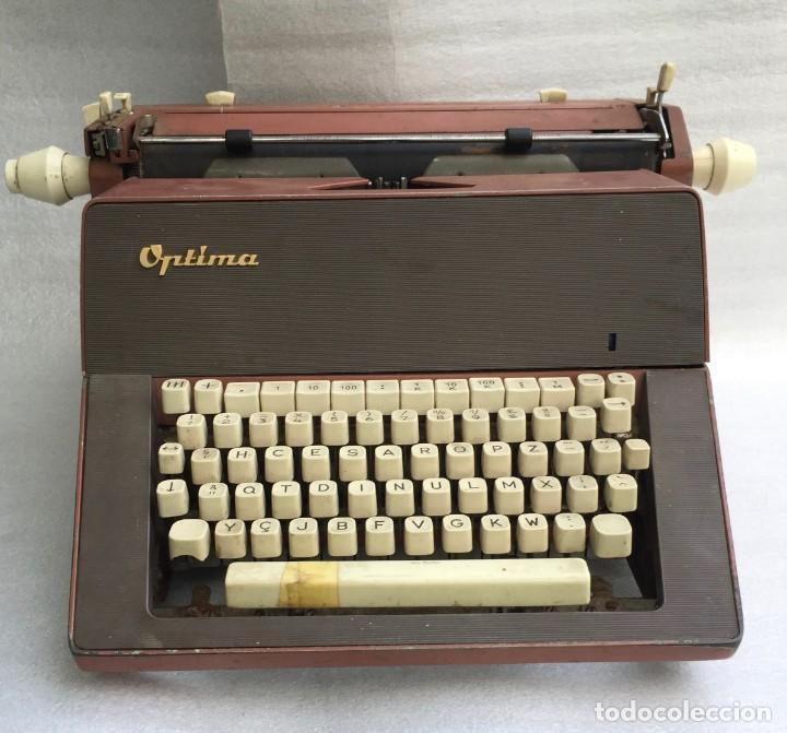 MÁQUINA DE ESCRIBIR OPTIMA (Antigüedades - Técnicas - Máquinas de Escribir Antiguas - Otras)