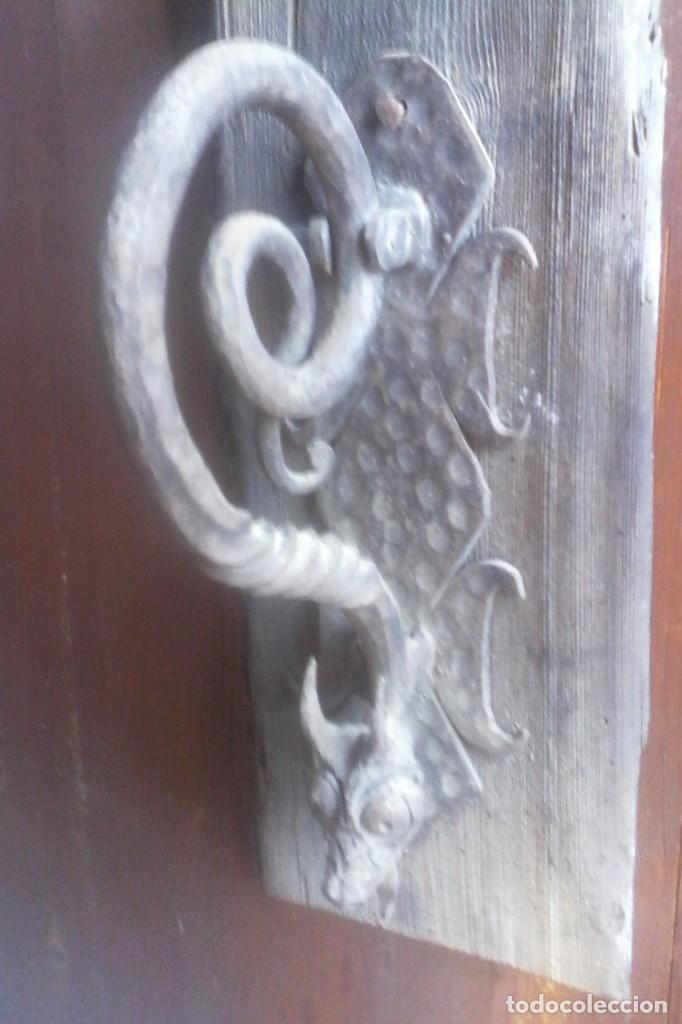 PICAPORTE - ALDABA . (Antigüedades - Técnicas - Cerrajería y Forja - Aldabas Antiguas)