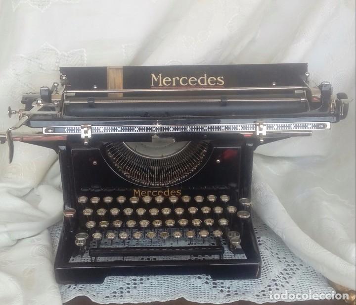 ANTIGUA MAQUINA DE ESCRIBIR MARCA MERCEDES (Antigüedades - Técnicas - Máquinas de Escribir Antiguas - Mercedes)