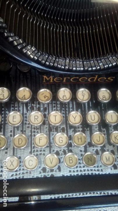 Antigüedades: Antigua maquina de escribir marca Mercedes - Foto 6 - 169645612