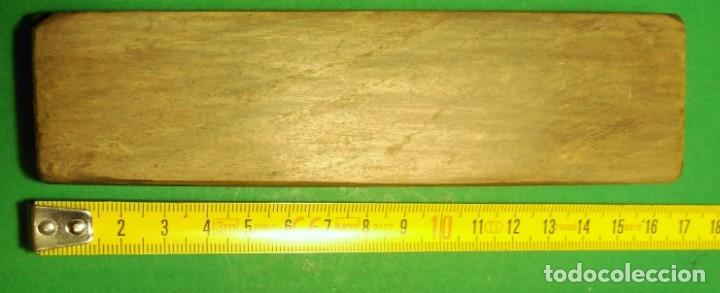 Antigüedades: PIEDRA antigua natural para afilar navajas de afeitar RARA: SUD OUEST stone + TURINGIA - Foto 2 - 150274150