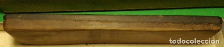 Antigüedades: PIEDRA antigua natural para afilar navajas de afeitar RARA: SUD OUEST stone + TURINGIA - Foto 4 - 150274150