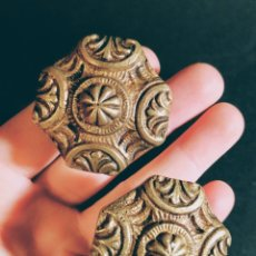 Antigüedades: PRECIOSOS POMOS TIRADORES ANTIGUOS DE BRONZE ANTIQUE UNIQUE. Lote 169658424