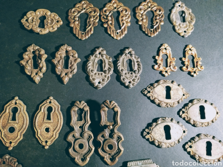 VARIADOS BOCALLAVES ANTIGUOS ANTIQUE UNIQUE (Antigüedades - Técnicas - Cerrajería y Forja - Cerraduras Antiguas)