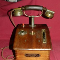Teléfonos: (M) TELEFONO CAMAROGRAFO DE MADERA - EUGEN HAMM - EMILIE RHEIN, VER FOTOGRAFIAS. Lote 169878016