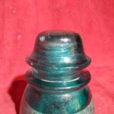 Antigüedades: JICARA AISLANTE CORRIENTE ELECTRICA DE VIDRIO HEMINGRAY - 42 MADE IN USA . Lote 169918024