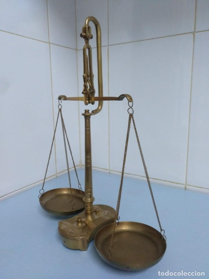 Antigüedades: balanza antigua - Foto 3 - 169925824