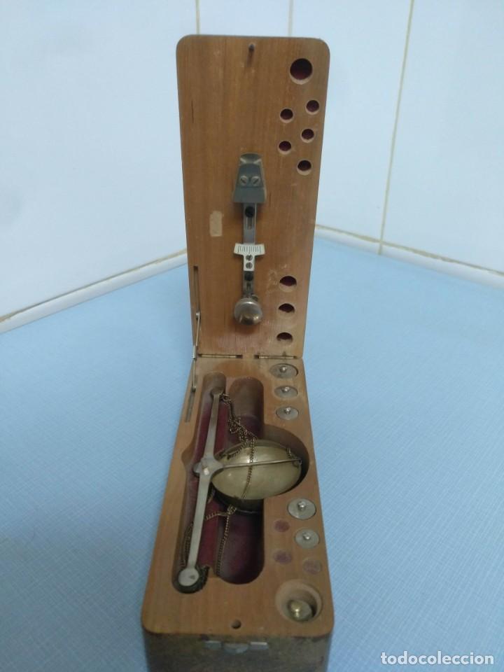 Antigüedades: balanza de joyero portátil - Foto 3 - 169926072