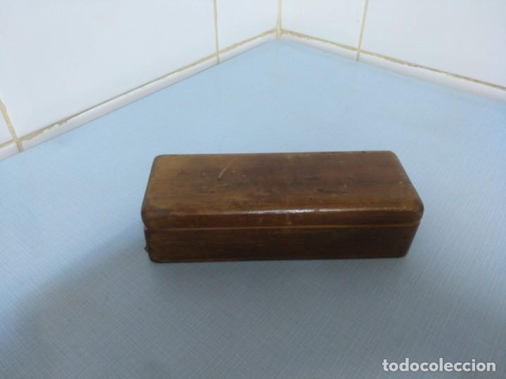 Antigüedades: balanza de joyero portátil - Foto 4 - 169926072