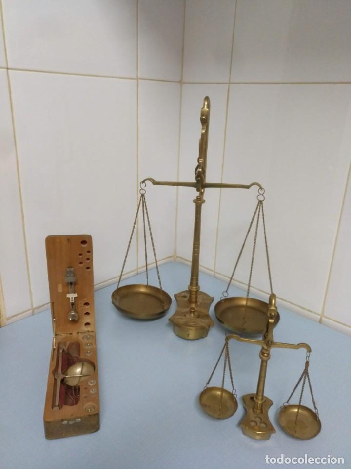 Antigüedades: balanza de joyero portátil - Foto 6 - 169926072