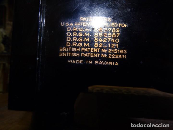 Antigüedades: MÁQUINA DE ESCRIBIR ORGA PRIVAT CON SU MESA DE ROBLE. MADE IN BAVARIA (ALEMANIA) - Foto 12 - 169975852