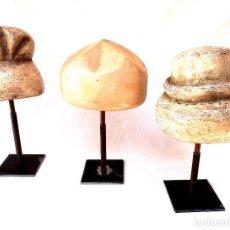 Antigüedades: ANTIGUOS MOLDES BELGAS DE SOMBREROS. Lote 169988124