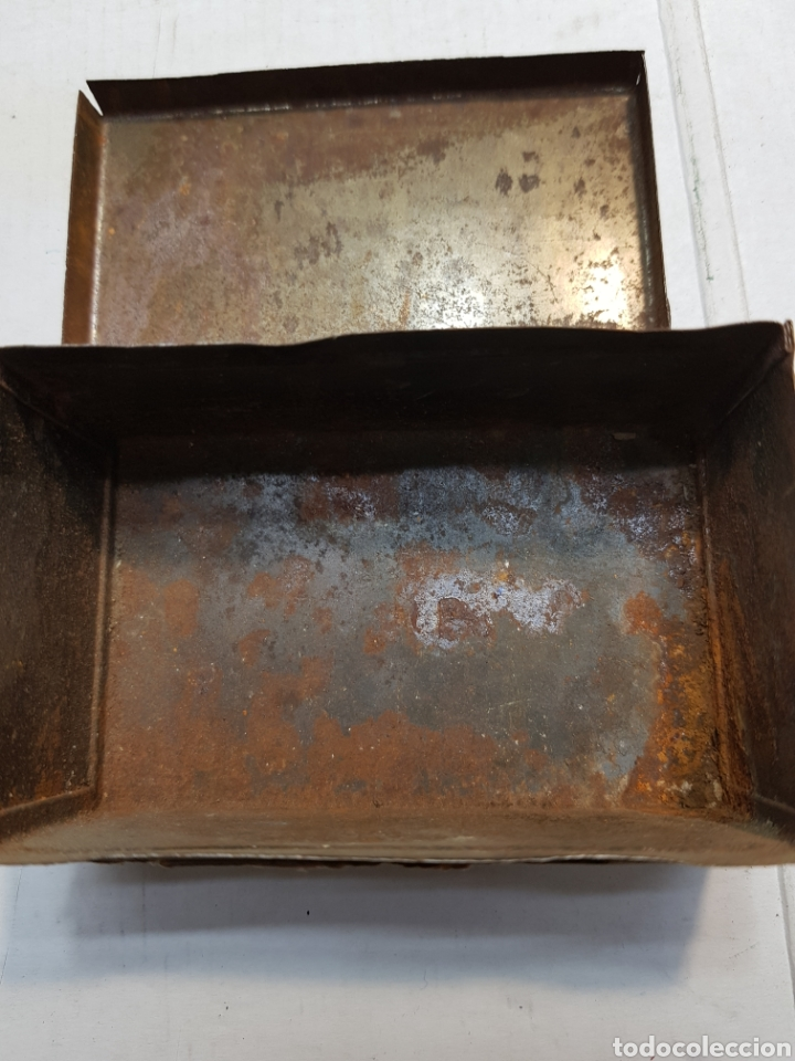 Antigüedades: Caja de hojalata de Farmacia Lithines - Foto 4 - 170025505