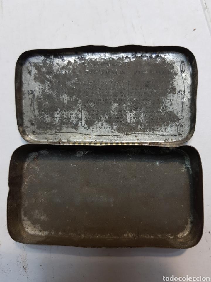 Antigüedades: Cajita hojalata de Farmacia Pasta pectoral Dr Andreu - Foto 4 - 170025861