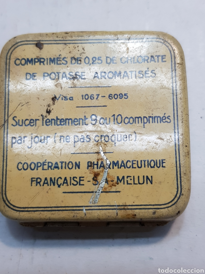 Antigüedades: Cajita hojalata de Farmacia Chlora-mint - Foto 2 - 170026102