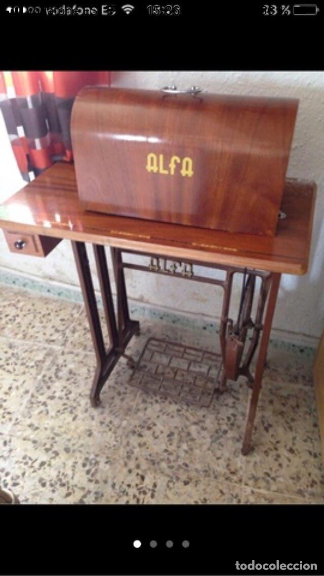 Antigüedades: Máquina de coser ALFA años 50 - Foto 4 - 102107279