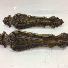 Antigüedades: 2 TIRADORES DE BRONCE DE GRAN TAMAÑO 29 CMS. DE LARGO. Lote 170105664