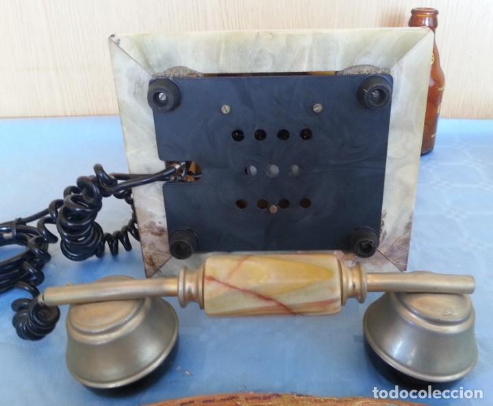 Teléfonos: Teléfono de alabastro. Años 60. Funcionando perfectamente. - Foto 10 - 170112116