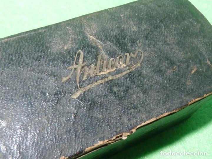 Antigüedades: Antigua Maquinilla de Afeitar en Estuche Original ANTICOR - Foto 3 - 170125604
