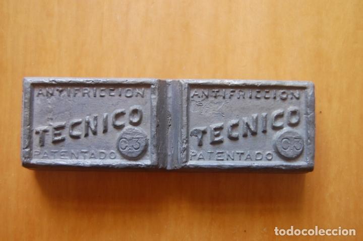LINGOTE DE METAL DE APORTACIÓN TÉCNICO. (Antigüedades - Técnicas - Herramientas Profesionales - Mecánica)