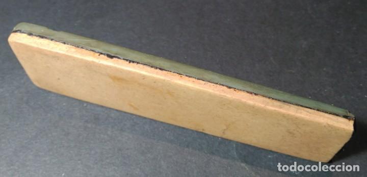 Antigüedades: Piedra de afilar navaja de afeitar : Coticula Amarilla clasica + tipo Turingia, sharpening stone - Foto 3 - 170342404