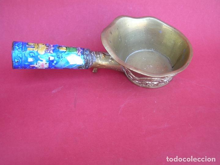 Antigüedades: Plancha china de carbón para seda. Principios siglo XX. - Foto 3 - 170345504