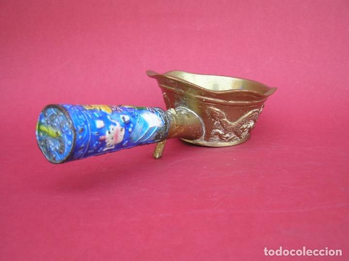 Antigüedades: Plancha china de carbón para seda. Principios siglo XX. - Foto 6 - 170345504