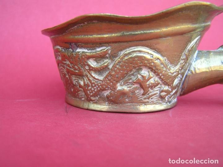 Antigüedades: Plancha china de carbón para seda. Principios siglo XX. - Foto 10 - 170345504