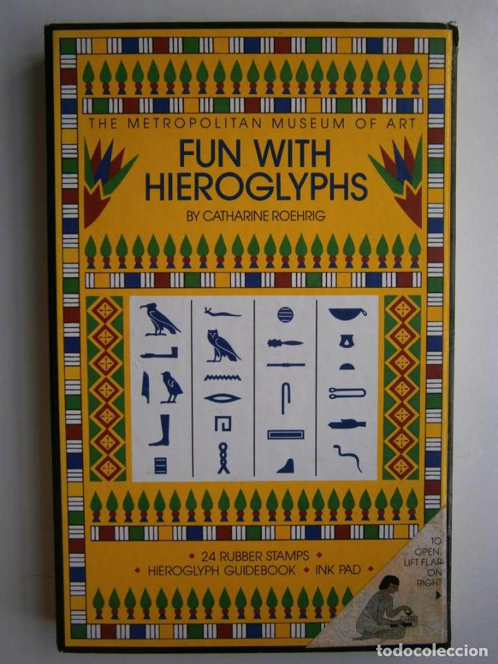 Antigüedades: THE METROPOLITAN MUSEUM OF ART FUN WITH HIEROGLYPHS Catharine Roehrig 1991 TAMPONES DE SELLAR - Foto 2 - 170424924