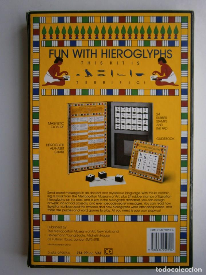 Antigüedades: THE METROPOLITAN MUSEUM OF ART FUN WITH HIEROGLYPHS Catharine Roehrig 1991 TAMPONES DE SELLAR - Foto 4 - 170424924