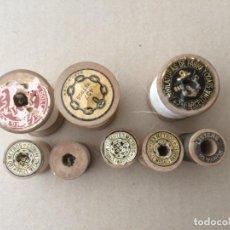 Antigüedades: CARRETES DE HILO DE MADERA. Lote 170519980