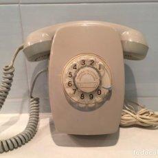 Teléfonos: TELÉFONO HERALDO DE PARED GRIS CON NÚMEROS DORADOS. Lote 170567784
