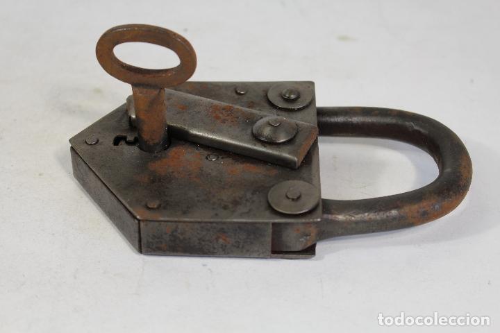 Antigüedades: candado con llave - Foto 3 - 170579010