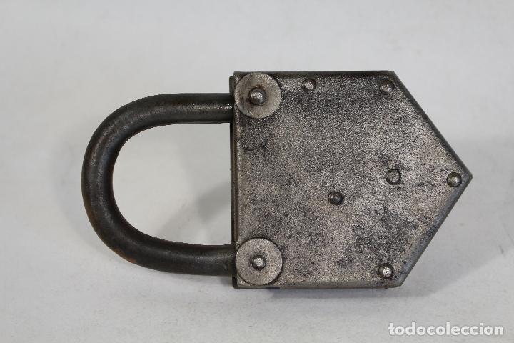 Antigüedades: candado con llave - Foto 4 - 170579010