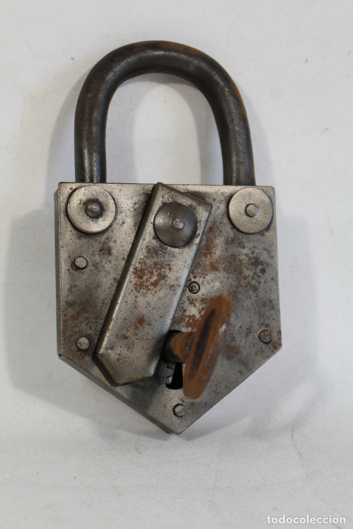 Antigüedades: candado con llave - Foto 5 - 170579010