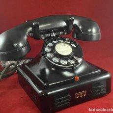 Teléfonos: ANTIGUO TELÉFONO DE METAL Y BAQUELITA, CON DISCO DE MARCACIÓN.. Lote 170668605