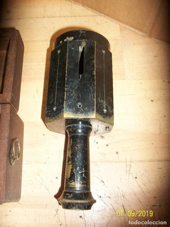 Antigüedades: ANTIGUA PANTOMETRA CON BRUJULA Y CAJA DE MADERA-APARATO TOPOGRAFICO - Foto 5 - 170887600