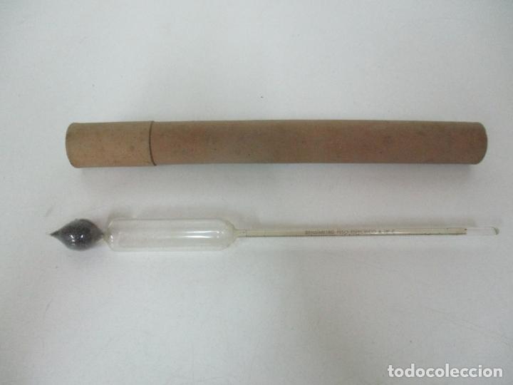 Antigüedades: Antiguo Termómetro - Desímetro - Farmacia - Funda Original de Cartón - Principios S. XX - Foto 6 - 170947265