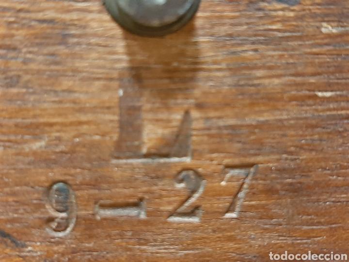 Antigüedades: MAGNÍFICO TELÉGRAFO, USADO EN ESTACIONES DE RENFE ANTES DEL TELÉFONO. Serie L 3-27 Número 19542. - Foto 10 - 158525146