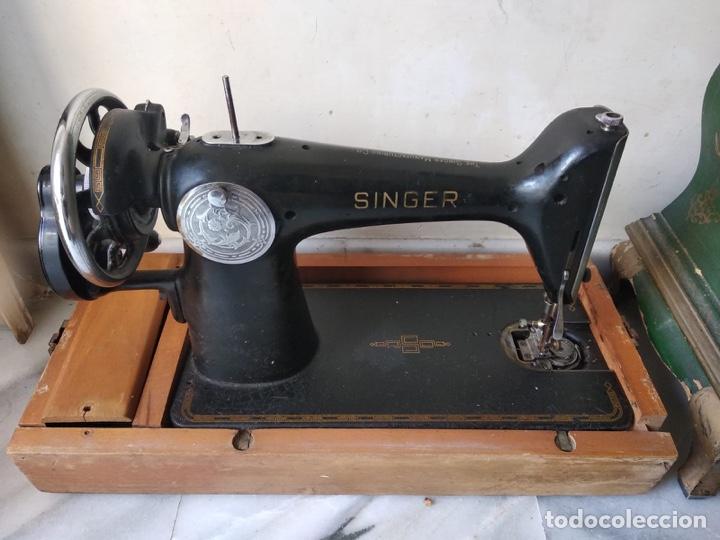 BONITA MÁQUINA DE COSER SINGER (Antigüedades - Técnicas - Máquinas de Coser Antiguas - Singer)