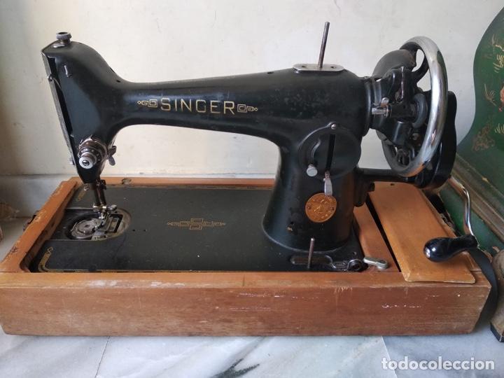 Antigüedades: Bonita máquina de coser singer - Foto 11 - 171016359