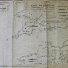 Antigüedades: A CHART OF THE ENGLISH CHANEL BRISTOL AND PART OF THE ST.GEORGES CHANNELS & OF THE NORTH SEA.1848. Lote 171116325