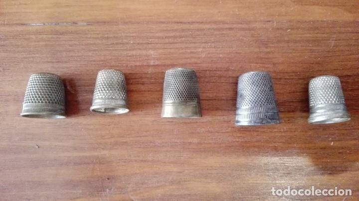 LOTE 5 DEDALES ANTIGUOS (Antigüedades - Técnicas - Máquinas de Coser Antiguas - Complementos)